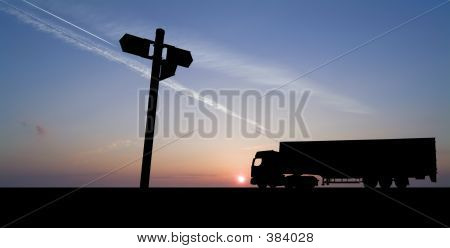 Truck With Sign