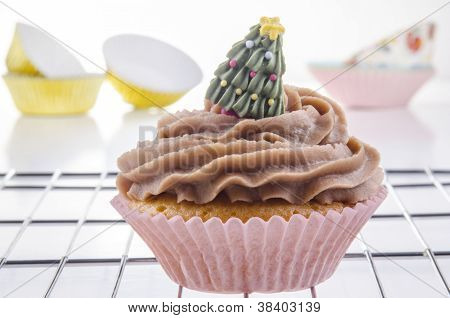 Cupcake With Chocolate Buttercream