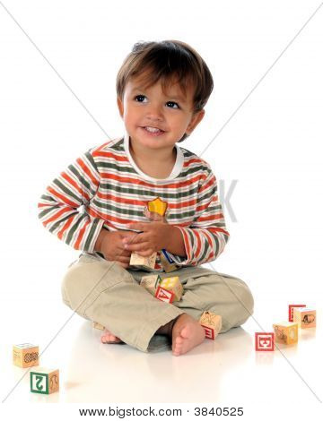 Early Alphabet Block Play