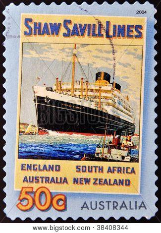 AUSTRALIA - CIRCA 2004: A stamp printed in Australia shows Shaw Savill Lines circa 2004