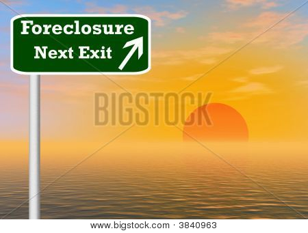Foreclosure Freeway Exit Sign