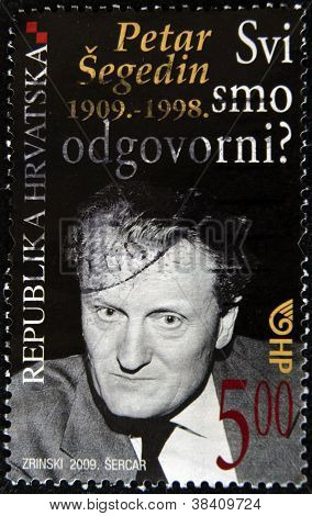 CROATIA - CIRCA 2009: A stamp printed in Croatia shows Petar Segedin circa 2009