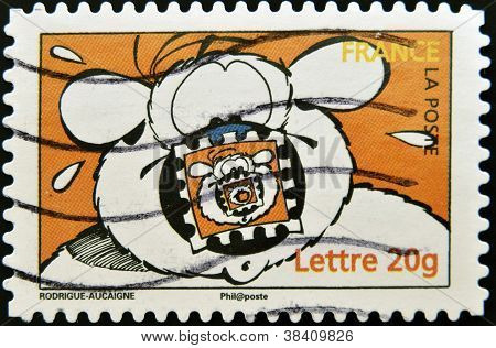 FRANCE - CIRCA 2006: A stamp printed in France shows Cubitus fictional dog character circa 2006