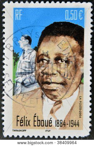 FRANCE - CIRCA 2004: A stamp printed in France shows Felix Eboue circa 2004