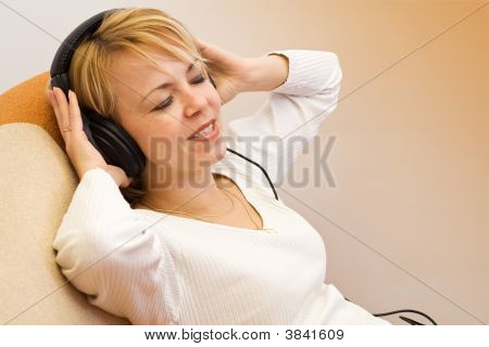 Woman Enjoy The Music