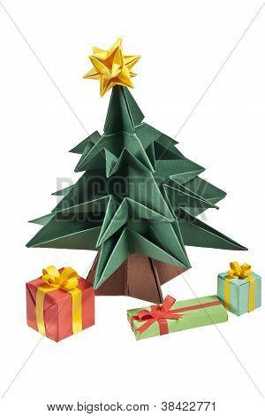 An Origami Christmas Tree