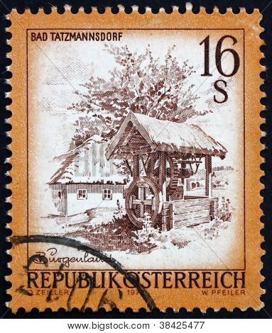 Postage stamp Austria 1977 Openair Museum, Bad Tatzmannsdorf