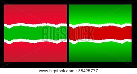 Christmas tear ripped paper Vector