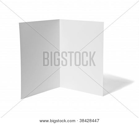 Leaflet White Blank Paper Template