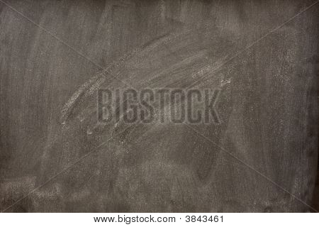 Blank Blackboard With White Smudges From Eraser