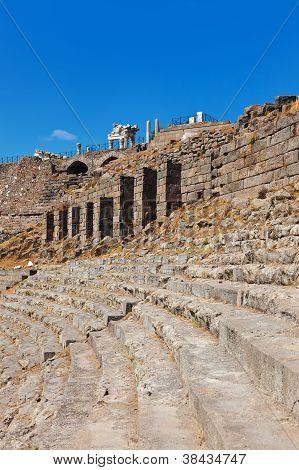 Ruins In Ancient City Of Pergamon Turkey
