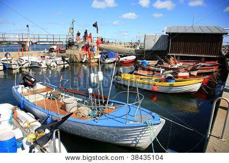 cutters in Snogebaek port - Bornholm,