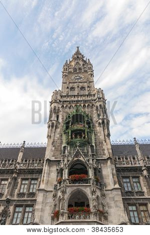 Rathaus Tower In Munich