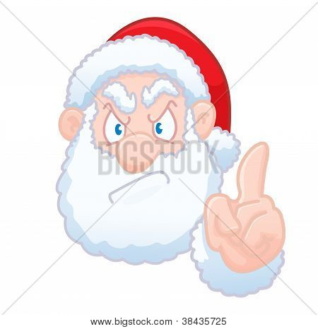 Santa Claus says no christmas card