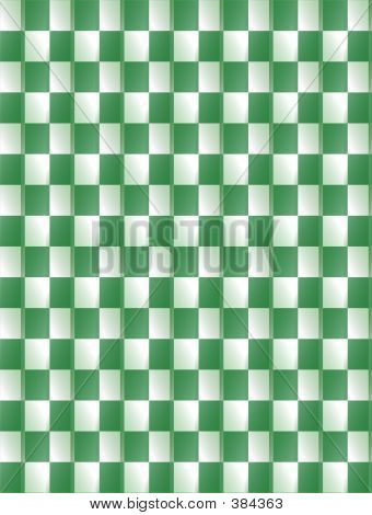 Green & White Background Pattern
