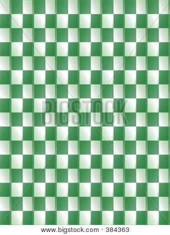 Green & White Background Pattern