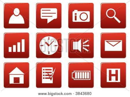 Conjunto de iconos de gadget Plaza.