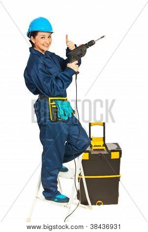 Successful Driller Woman