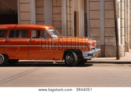 Classic American Car In Old Havana