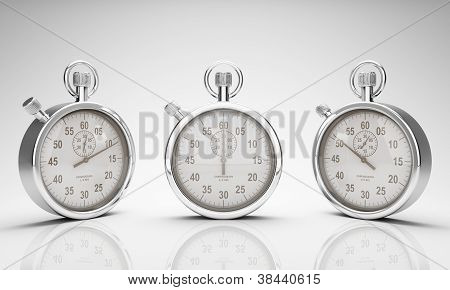 Stop Watch with Clipping Path for Dials and Watch