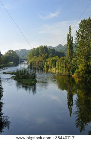 River Usk with Usk Island