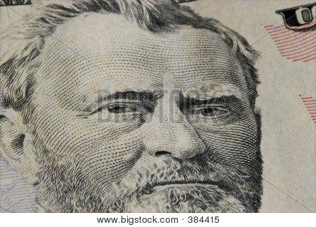 Fifty Dollar Bill Closeup