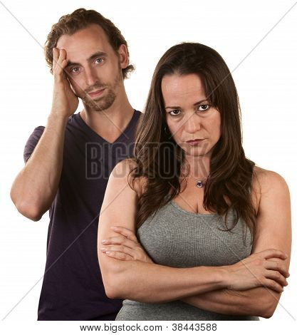 Skeptical Wife With Husband