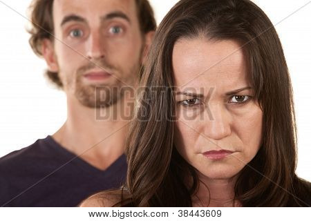 Angry Woman And Innocent Man