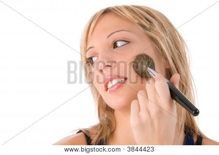 Make Up Of Smiling Young Woman Face