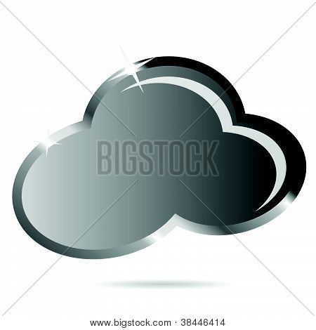 Cloud Black Vector Illustration Icon