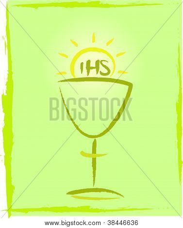 holy communion - green background