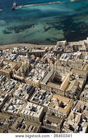 aereal view of trapani