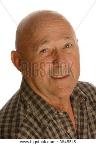 Bald Senior Man