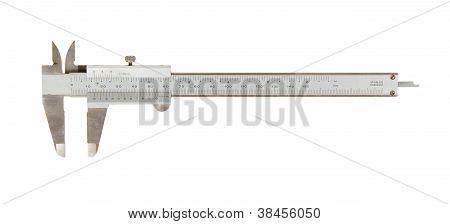 Viejo utiliza pinza (un instrumento de medición)