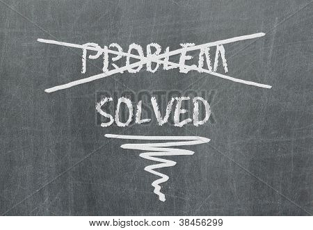 Solution For A Problem Written On Blackboard