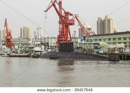 Chinese Submarine Docked