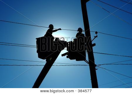 Linemen At Work