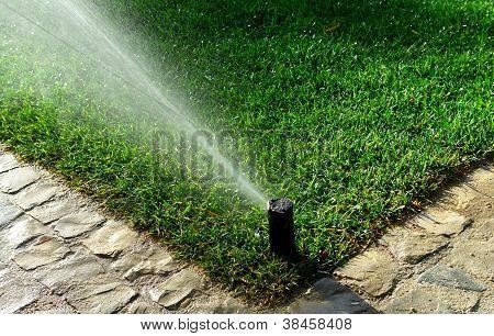 Sistema de irrigação do jardim