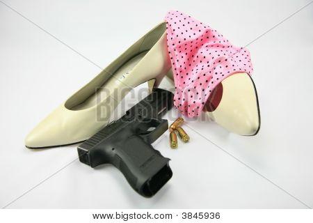 Pink Panties And Gun