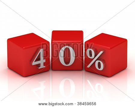 40 Percent On Red Cubes