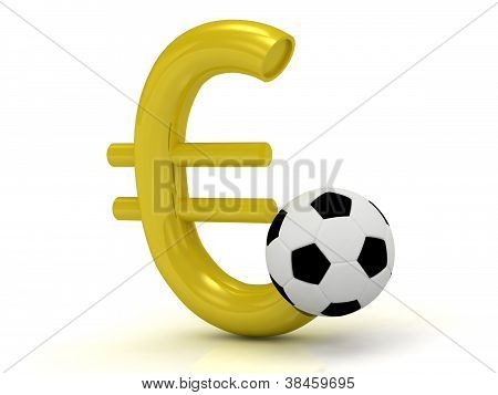 Euro With The Ball In Soccer