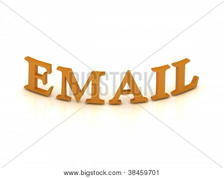 Email Sign With Orange Letters