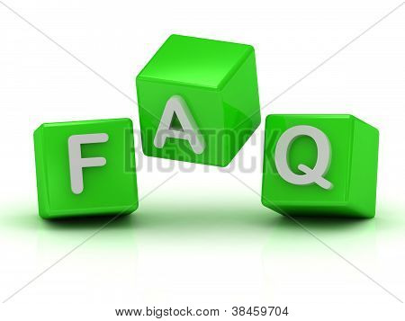 Faq Three Green Cubes In The Air