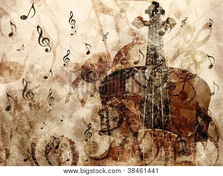 Vintage Violin Background