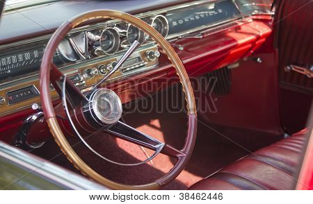 1963 Black Pontiac Bonneville Interior