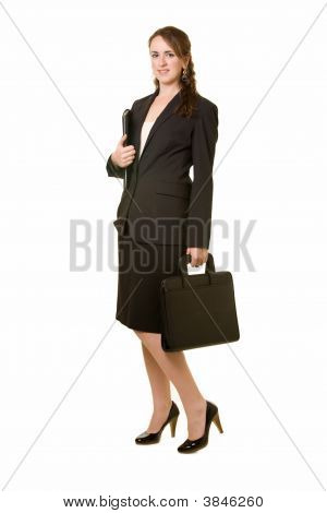 Full Body Of Business Woman