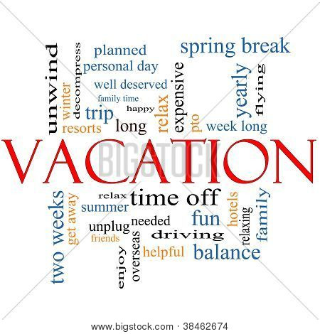 Vacation Word Cloud Concept