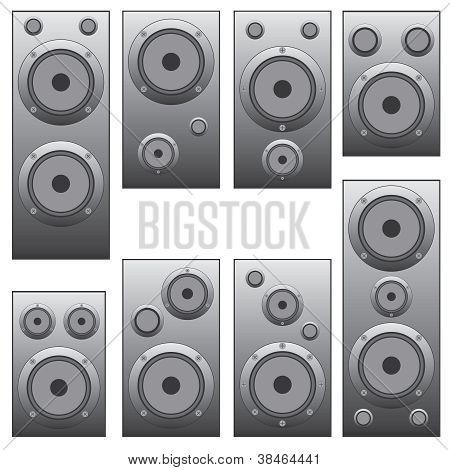 Set Of Audio Speakers.