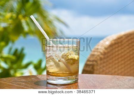 Mojito at a beach bar
