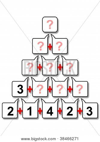 Mathematical census pyramid for kids